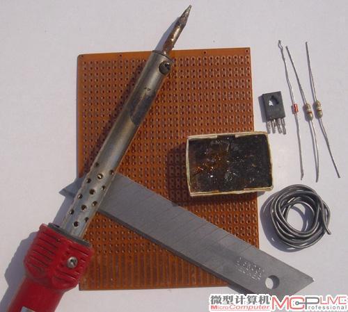 接下来,就可以按照电路板接线图(图4)分别插入电路板进行焊接.
